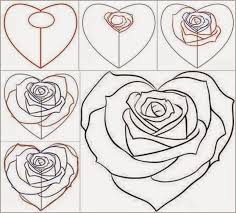 Small Picture Draw a Realistic Rose Draw Real Rose Step by Step Drawing Sheets