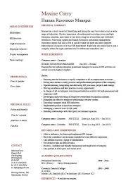 Sample Hr Manager Resume Sample Professional Letter Formats