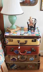 Suitcase Nightstand 79 best old suit cases images vintage luggage 8902 by guidejewelry.us