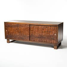 Design Your Own Sideboard Credenza Sideboard Featuring Embossed Leather Doors Build