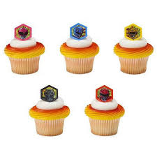 24 Power Rangers Morphinominal Cupcake Cake Rings Birthday Party