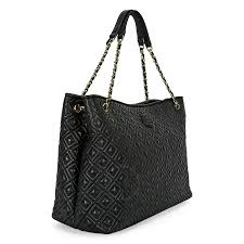 Tory Burch Marion Quilted Leather Tote - Black - Tory Burch ... & Tory Burch Marion Quilted Leather Tote - Black Adamdwight.com