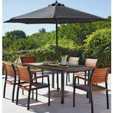 patio table and 6 chairs: buy sorrento  seater patio furniture set with parasol brown at argosco