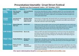event programs groat street festival presentation timetable