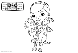 Doc Mcstuffins Coloring Pages Characters Lambie And Stuffy Free