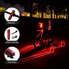 Buy Momoo Bike Tail Light Laser Bike Light 5 Led 1 Laser