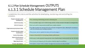 Project Schedule Management Plan Template 06 Project Time Management M