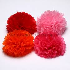 Hanging Paper Flower Balls Us 50 81 5 Off 29 Colors Avilable Large Size Hanging Paper Flower Rose Ball Baby Shower Wall Decoration 18inch 45cm 24piece Lot Tissue Pom In