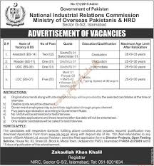 national industrial relations commission ministry of overseas national industrial relations commission ministry of overseas ies hrd jobs the news jobs ads 16 2016