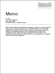 Inter Office Memo Format Inter Office Correspondence Format