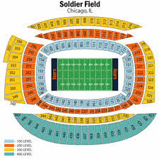 Soldier Field Chart Breakdown Of The Soldier Field Seating Chart Chicago Bears