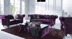 Victoria 3 Seater Chesterfield Boutique Crush Purple Velvet Sofa For Velvet Purple  Sofas (Image 20