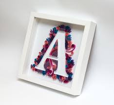quilling art quilled monogram letter a initial personalized gift handmade etsy framed wall art home decor by paperparadisepl on framed monogram letter wall art with quilling art quilled monogram letter a initial personalized gift