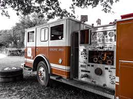 retro transportation transport truck red vehicle fire security fire truck emergency service fire department engine safety