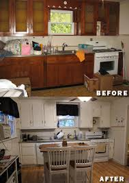painted brown kitchen cabinets before and after. Delighful Brown DIY Kitchen Renovation Painting Cabinets Then  Intended Painted Brown Kitchen Cabinets Before And After