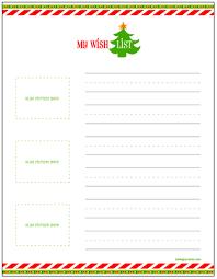 Free Printable Christmas Wish Lists for Kids Living Locurto ~ A Creative  DIY Lifestyle Blog