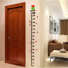 Us 9 9 25 Off Acrylic Tree In Bud Kids Height Chart Stickers On The Wall Kids Rooms Children Diy Decor Or Measurement Ruler In Wall Stickers From