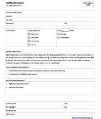 Microsoft Job Description Microsoft Word Job Description Template Templates Data
