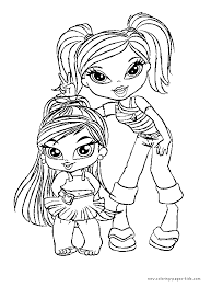 Small Picture Bratz color page Coloring pages for kids Cartoon characters