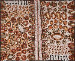 when did we first see aboriginal dot painting