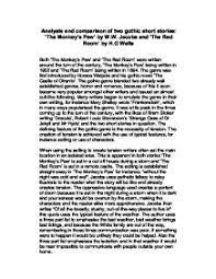 analysis and comparison of two gothic short stories the monkey tm  page 1 zoom in
