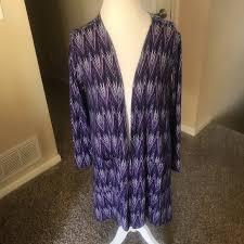 Lularoe Purple White Caroline Cardigan Boutique