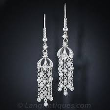 vintage style diamond chandelier earrings previous to enlarge photo