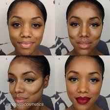 contour and highlight tutorial for darker skin tones
