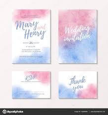 wedding book cover template pink and blue watercolour bridal template stock vector miraelart