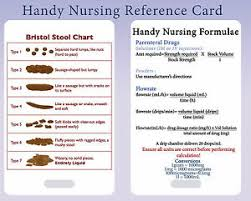 Details About Nursing Calculation Bristol Stool Chart Pvc Lanyard Reference Card Must Have