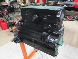 rebuilding a l134 willys chain drive engine haines garage i masked off all orifices then primed and painted the block duplicolor engine e l