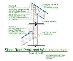 cad details shed roof peak