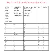Uk Bra Conversion Chart Glamorise Bra Size Chart Bedowntowndaytona Com