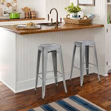 Modern Style Bar Stools Best Choice Products 30 Set Of 2 Modern Industrial Backless Metal