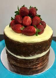 Strawberries Naked Hummingbird Cake