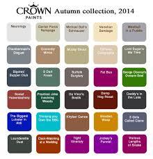 Paint Colour Chart Crown