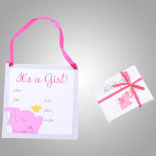 Online Announcement Cards Birth Announcement Cards And Plaque Its A Girl