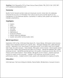 Quality Control Analyst Resumes Professional It Quality Control Analyst Templates To
