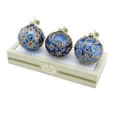 mini clear glass ornaments glass ball ornaments boxed glass ball ornament set blue w gold retired mini clear glass ornaments