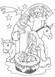 Christmas Nativity Scene Coloring Pages Printable Page Sheet