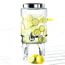 glass drink dispenser glass beverage dispenser with metal spigot the recycled drink pertaining to plan glass glass drink dispenser