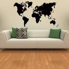 world map wall decal world map vinyl sticker travel geographical vinyl design geography