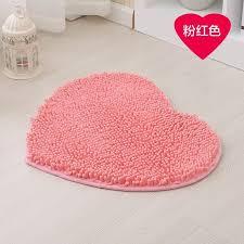 fresh idea heart shaped bath mat romantic 40x50cm chenille mats thicken water absorption bathroom rug carpet bathtub in