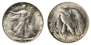 1935 Silver Half Dollar Value Chart Walking Liberty Half Dollars Price Charts Coin Values