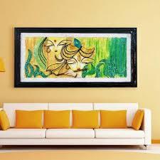 radha krishna 3d mural painting size 8