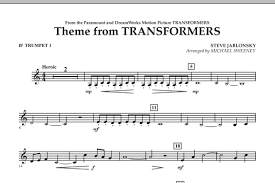 transformers sheet theme from transformers bb trumpet 1 sheet music at stantons