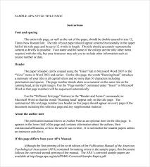 apa format essay template best images of printable outline sample apa format title page template 6 documents