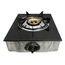 12 x 14 single propane gas stove 1burner tempered glass cooktop auto ignition stainless steel