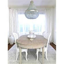 Floren French Country White Wash Oak Extendable Breakfast Oval