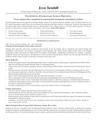 Elementary School Principal Resume Examples Resume Examples For High School Principal Danayaus 5